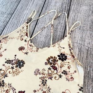 American Eagle Outfitters, strappy, floral tank, S